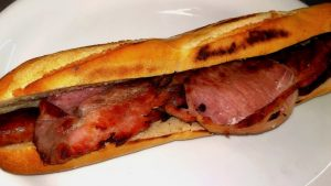 Sausage and Bacon Baguette